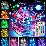 Luces de Hadas 10M 100LED, 12 colores Regulables Celebración Halloween Pascua Navidad Festival Cumpleaños Boda Fiesta Jardín