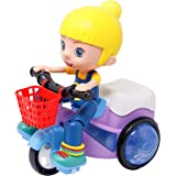 Zest 4 Toyz Stunt Tricycle Bump and Go Toy with 4D Lights, Dancing Toy, Battery Operated Toy for Kids (Stunt Tricycle…