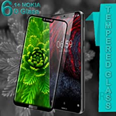 Original Premium Nokia 6.1 Plus 6D Tempered Glass – Premium Full Glue Nokia 6.1 Plus Tempered Glass, Full Edge-Edge Screen Protection for Nokia 6.1 Plus (Black)