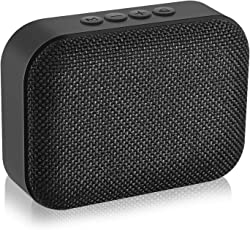 Jogger Fabric Art Bluetooth Speaker Outdoor 3W Portable Mini Audio Music Subwoofer Support TF Card/FM/U Disk with MIC. Bluetooth Mobile/Tablet/PC Portable Speaker (Black)