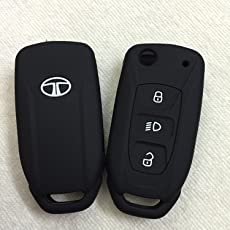 Driversion Silicone Flip Key Cover For Tata Safari Storme / Zest / Bolt / Tiago / Zica