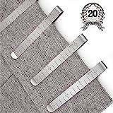 Chie no fukuro Couture Lot de 20 Pinces en Acier Inoxydable Ourlet Clips 7,6 cm Mesure Règle de matelassage pour Wonder Clips, l'Épinglage et marquer Les Accessoires