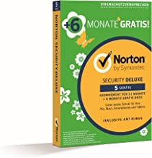 Norton Security Deluxe 2018 | 5 Geräte | 18 Monate | PC/Mac/iOS/Android | Download