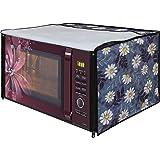 Dream Care White Flower Printed Microwave Oven Cover forLG 28 Litre MJ2886BFUM