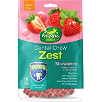 Heads Up For Tails Gluten and Grain-Free Happi Doggy Dental Chew Zest Dog Treats (Strawberry, 150 g)