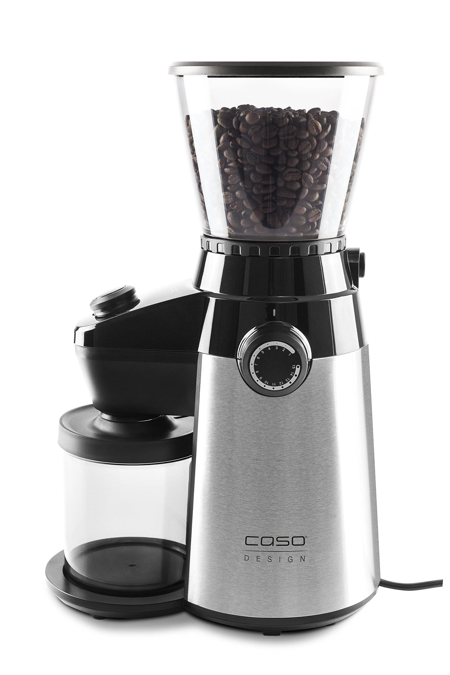 Caso Barista Flavour, elektrische Design- Kaffeemühle, Mahlgrad in 15 Stufen einstellbar, Kegelmahlwerk aus robustem…