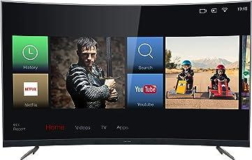 Thomson 55UD6696 139 cm (55 Zoll) Curved TV (4K UHD, HDR, Smart TV 3.0, Dolby Digital Plus, T-Cast) Dunkelsilber