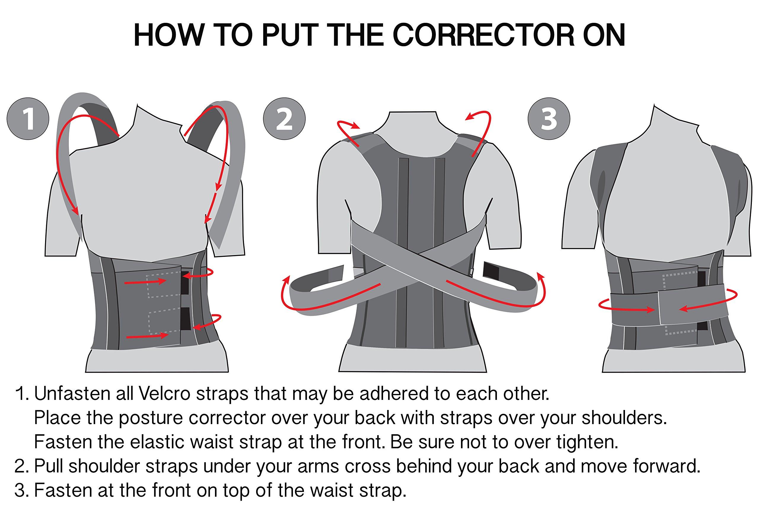 Comfort Posture Corrector And Back Support Brace 100 Cotton Liner Shoulder Elastis