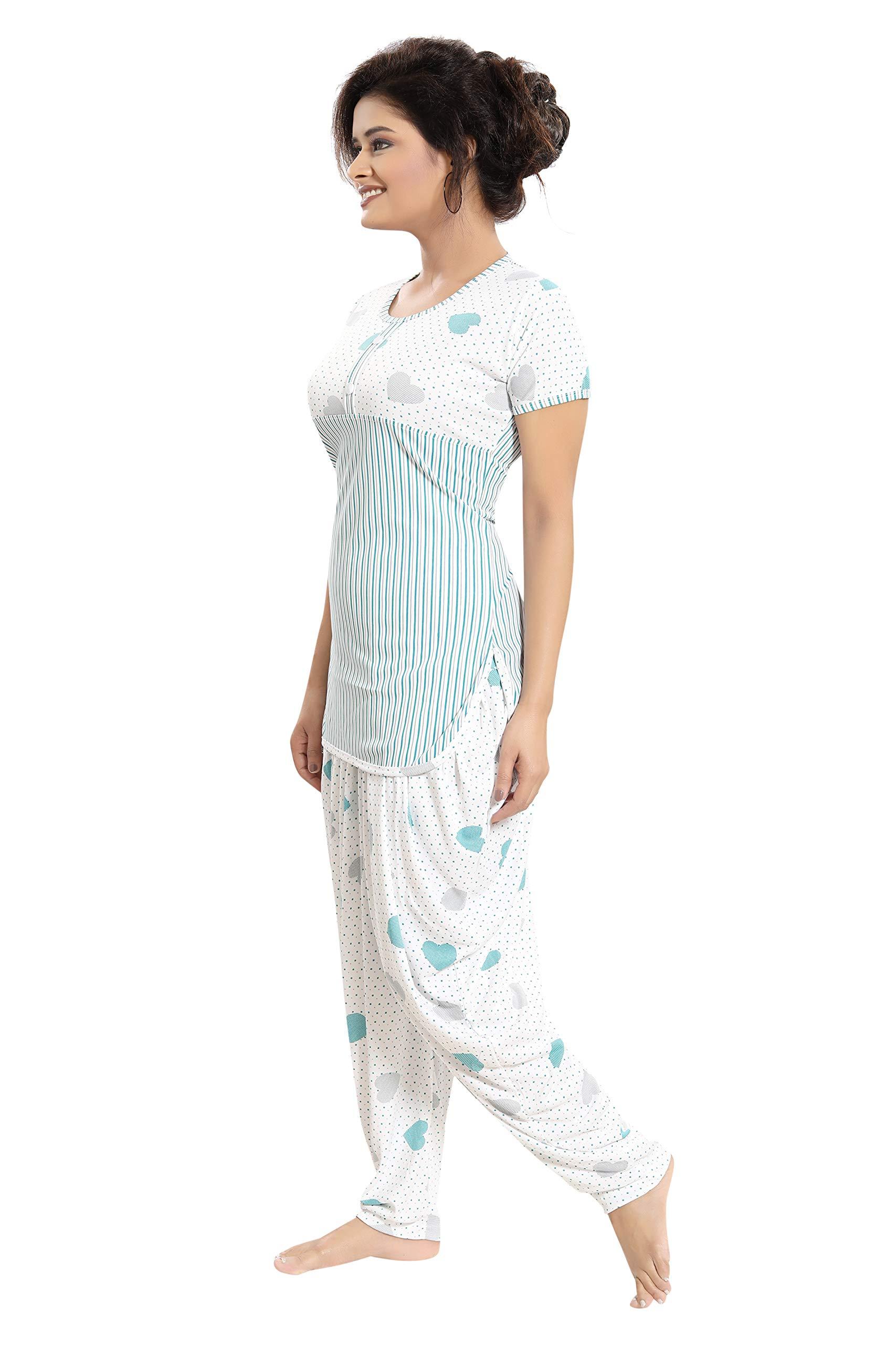 1c605e0abf TUCUTE Top and Dhoti Style Bottom Night Suit Nighty   Nightdress Night ...