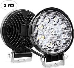 Nilight Nilight 2PCS 27W Round Spot LED Light Bar Driving Lamp Waterproof Jeep Off Road Fog Lights for Truck Car ATV SUV Jeep Boat 4WD ATV