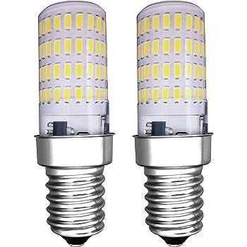MZMing [2 Piezas] E14 Pequeño LED Bulbo 4W Bombillas Nevera -No Dimmable 6000K Blanca Fría 450lm de Haz de Halógena de 40W- Calor Bajo Usado para Nevera ...