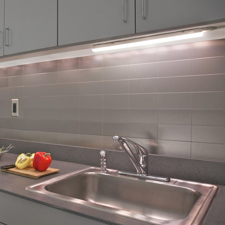 Luce Striscia Barra Luminosa a Tubo LED 9W per Interni e Sottopensile  Cucina 573MM Lunghezza con Interruttore Luce Bianca Naturale 4000K, Lot di  1 ...