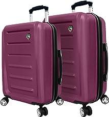 Mia Toro Moderno Hardside Spinner Suitcase Luggage
