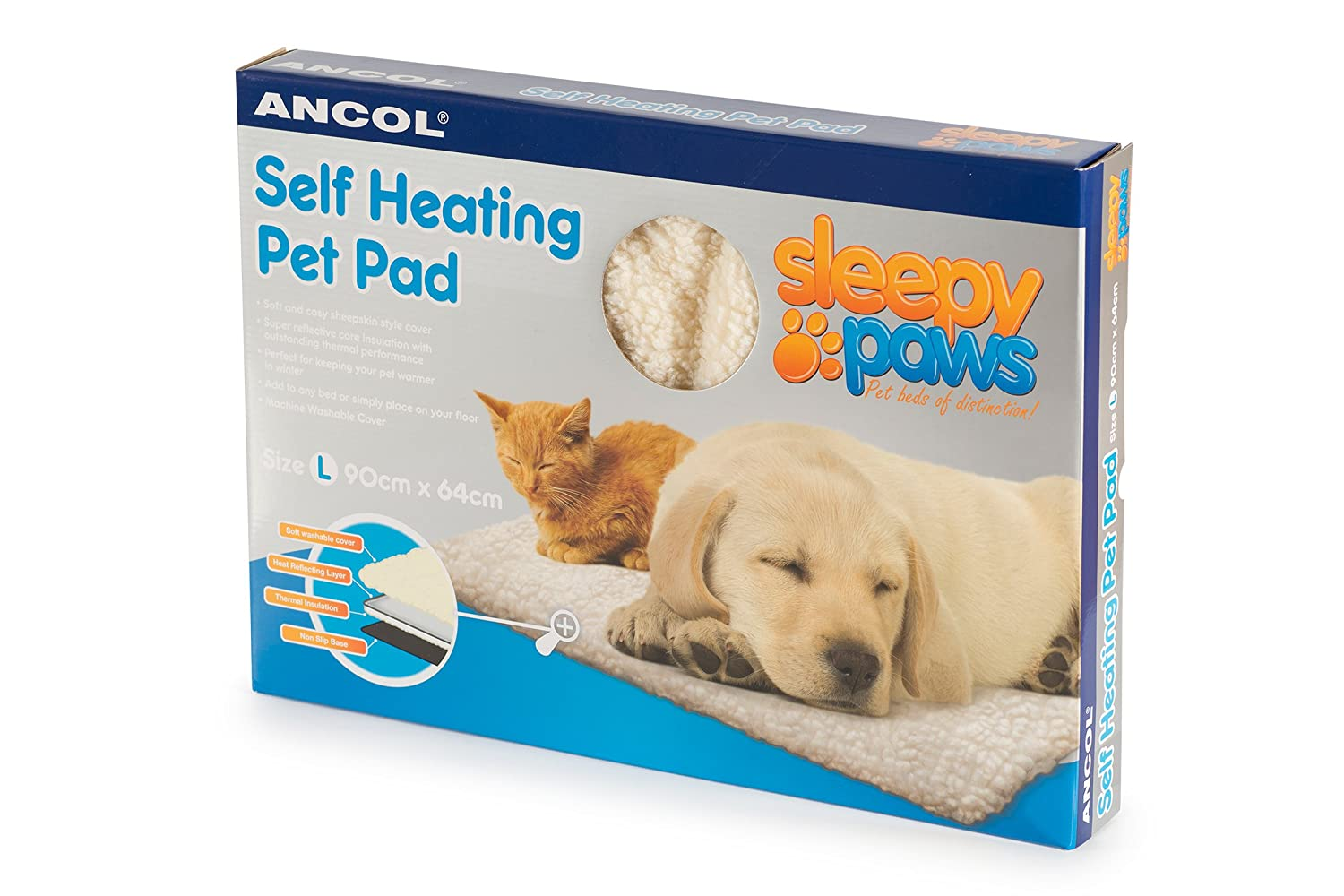 Ancol Self Heating Pet Pad Cat Dog Bed Large