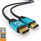 GUARDIEN HDMI Kabel 4K 1,8 Meter - Premium Zertifizierte - HDMI 2.0a, 2.0b, 2.0 - Ultra HD bei vollen 60Hz, 2160P, Dolby Vision, 3D, Full HD, 1080p, HDR, ARC, HDCP 2.2, Highspeed mit Ethernet