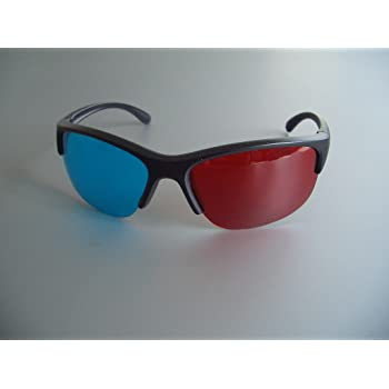 Professionelle 3D Brille rot/cyan (sog. Anaglyphenbrille) Pilot Style