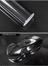 Topwill 5D Carbon Folie, Hochglanz 5D Autofolie Carbon Vinyl Auto Folie Car Wrapping Folie 0,16mm Autofolie (152 x 50 cm) Schwarz
