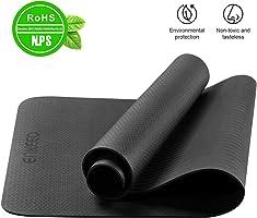 ENKEEO Yoga Tappetino, Fitness Tappeto Ultraleggero Antiscivolo Lavabile, 183 x 80 x 0.6 cm con Cinghia a Tracolla per Palestra, Pilates, Allenamento
