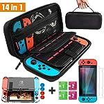Kit de Accesorios 14 en 1 para Nintendo Switch, Funda Protectora para Interruptor Nintendo, Cubierta Transparente para...
