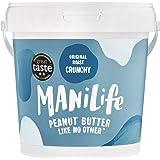 ManiLife Mantequilla de Cacahuete - Peanut Butter - Natural, de Origen único, sin Aditivos, sin Azúcar Añadida, sin Aceite de