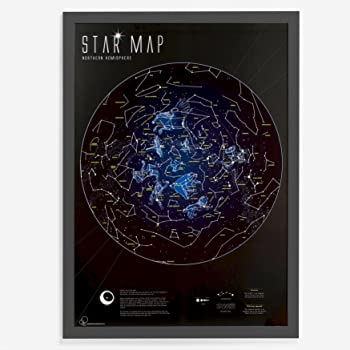 Star Map For Kids.Star Map Glow In The Dark Constellation Celestial Map Star Guide
