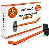 Gakago Support mural pour pneus - Jeu de 4 supports pour jantes avec vis et chevilles et instructions de montage - Support mu