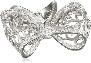MISIS AN02919 - Anello da donna in argento 925 con zirconi bianchi