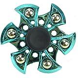 Spinnerooz Hand Spinner Novelty Toy - Fidget Spinner - 3 In 1 - Jump, Bounce, Spin (Blue)
