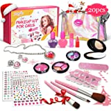 Luckyfine Trucchi Bambina Set 20 Pezzi Lavabile Makeup Set di Cosmetici per Bambini Trucco Ragazza Giocattolo, Ragazze Festa