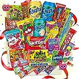 Amerikanische Süßigkeiten XXL Box 2,3 kg  24+3 Teile gratis leckere USA Süssigkeiten Kennenlernbox - Candy Mix inkl. Getränke