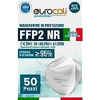 Eurocali 50 Mascherine Protettive FFP2 Certificate CE | BFE ≥99% | Mascherina Prodotta e Confezionata in Italia 100…