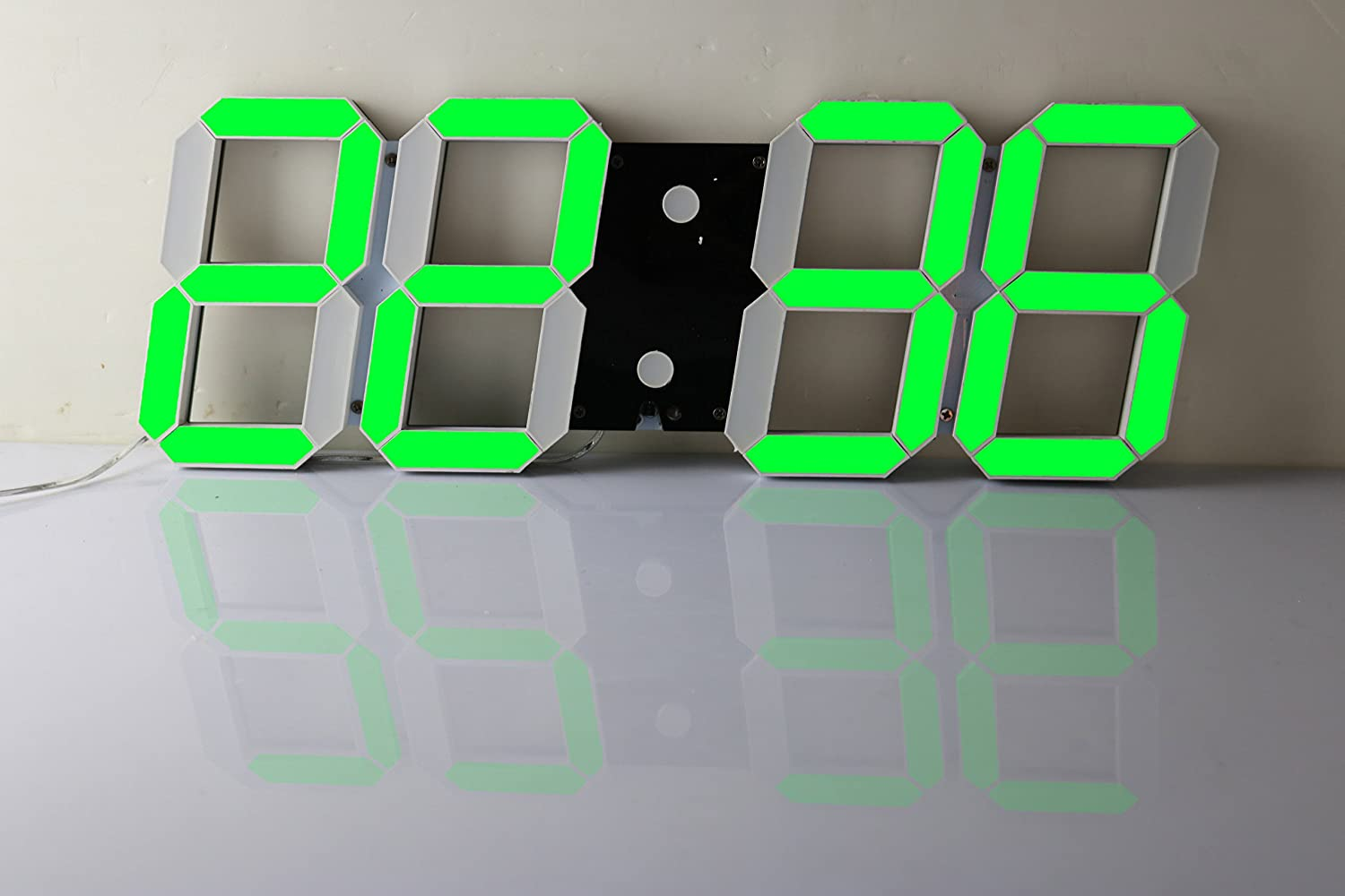 Bestland large led digital wall clock remote control jumbo larger bestland large led digital wall clock remote control jumbo larger numbers 3d design alarm clock with thermometer calendar snooze alarm countdown amipublicfo Images