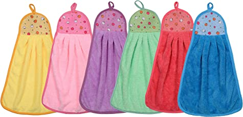 CETC Cotton Soft Touch Hand Face Basin Kitchen Towel Set Multi Colour