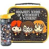 Sac à lunch Harry Potter et jeu de bouteille Chibi taille unique