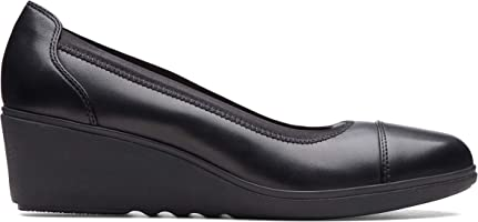Clarks Un Tallara Liz, Women's Women Pumps, Black (Black Leather), 3 UK (35.5 EU)