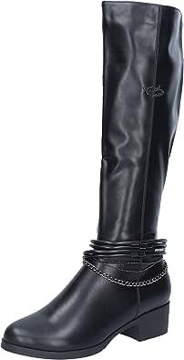 BRACCIALINI Stivali donna pelle sintetica nero