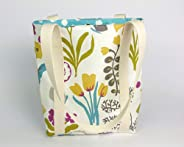 Floral fabric handbag for women