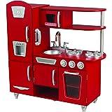KidKraft 53173 Vintage-Spielküche aus Holz, Rot