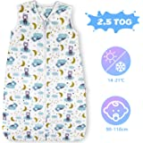 Lictin Schlafsack Baby Winterschlafsack 2.5 Tog Babyschlafsack Einstellbar 90-110cm für Neugeborene 18-36 Monate