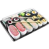 Rainbow Socks - Donna Uomo Calzini Sushi Tamago Butterfish Salmone 2x Maki - 5 Paia