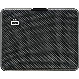 Ögon Smart Wallets - Big Stockholm Aluminium Wallet - RFID Blocking Card Holder - Up to 10 Cards and Banknotes - Carbon Effec