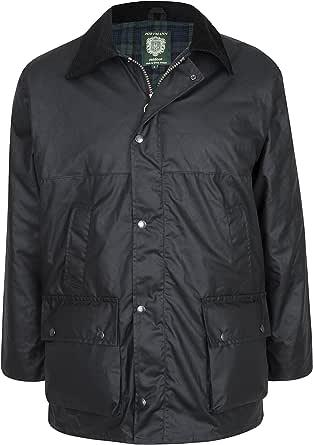 Portmann Mens Premium Quality Padded Wax Jacket Made in UK