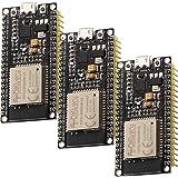 AZDelivery 3 pcs ESP32 ESP-WROOM-32 NodeMCU Modulo Wifi + Bluetooth Dev Kit C Placa de Desarrollo 2.4 GHz Dual Core con Chip
