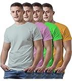 KGB Polo Men's Regular Fit T-Shirt (Pack of 4)