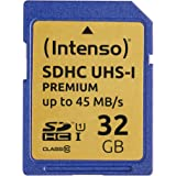 Intenso SDHC UHS-I 32 GB klass 10 minneskort blå