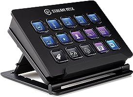 Corsair Stream Deck - Contrôleur de Création de contenus en Direct, 15 Touches LCD Personnalisables, Support Réglable,...