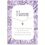 Nanny Sterling silver necklace | chain and heart pendant gifts for Nan | Nanna Grandma gift her | women | Christmas…