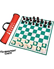 "Speedy Professional 17""×17"" Tournament Chess Board Game(Fide-Standards) with Chessmen(32 Pieces)"