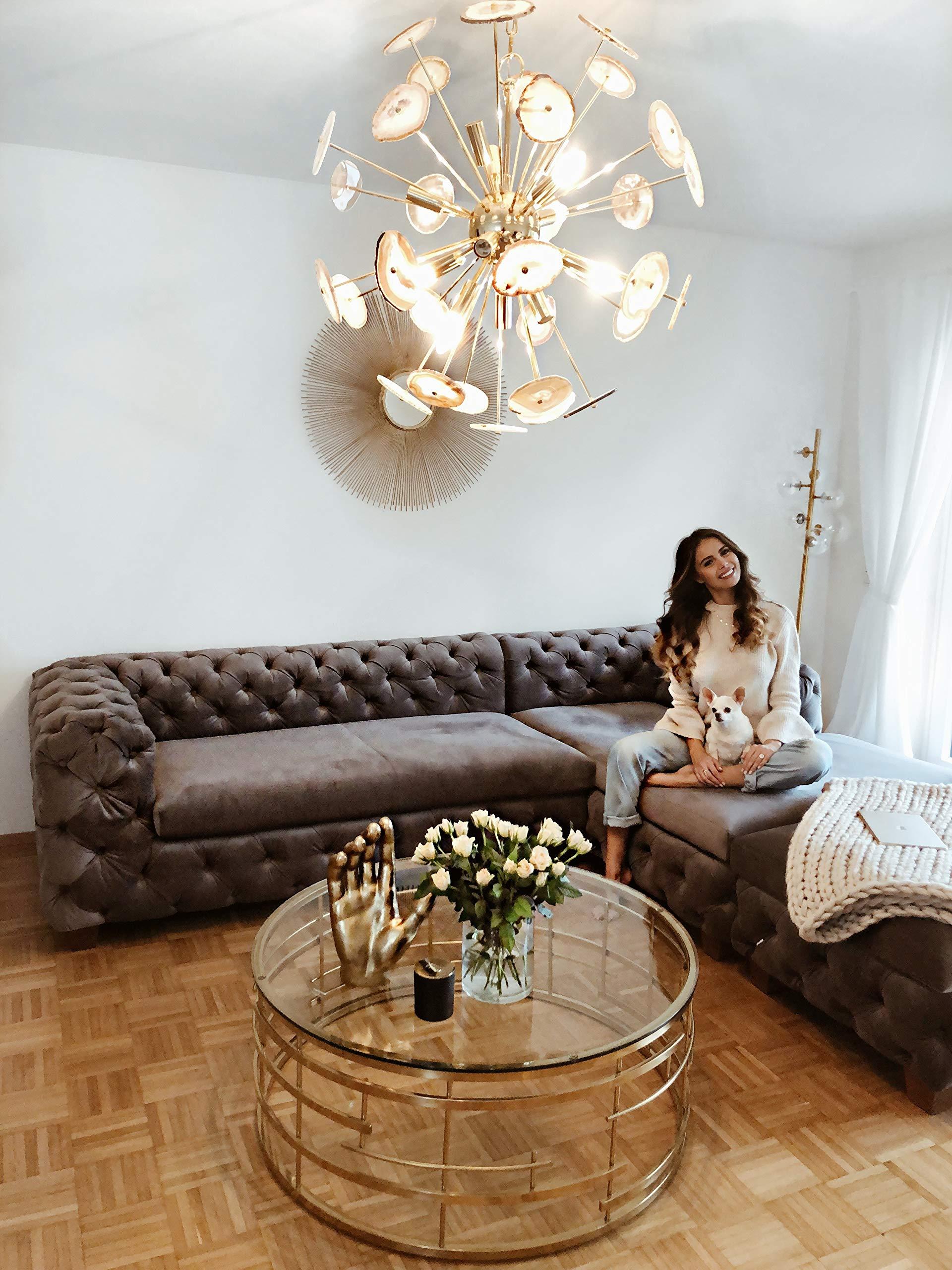 Kare Design Ecksofa Desire Velvet Grau Rechts, Polstersofa, Big Sofa,  Loungesofa, Wohnzimmer Couch, edles Ecksofa, (H/B/T) 72x280x180cm