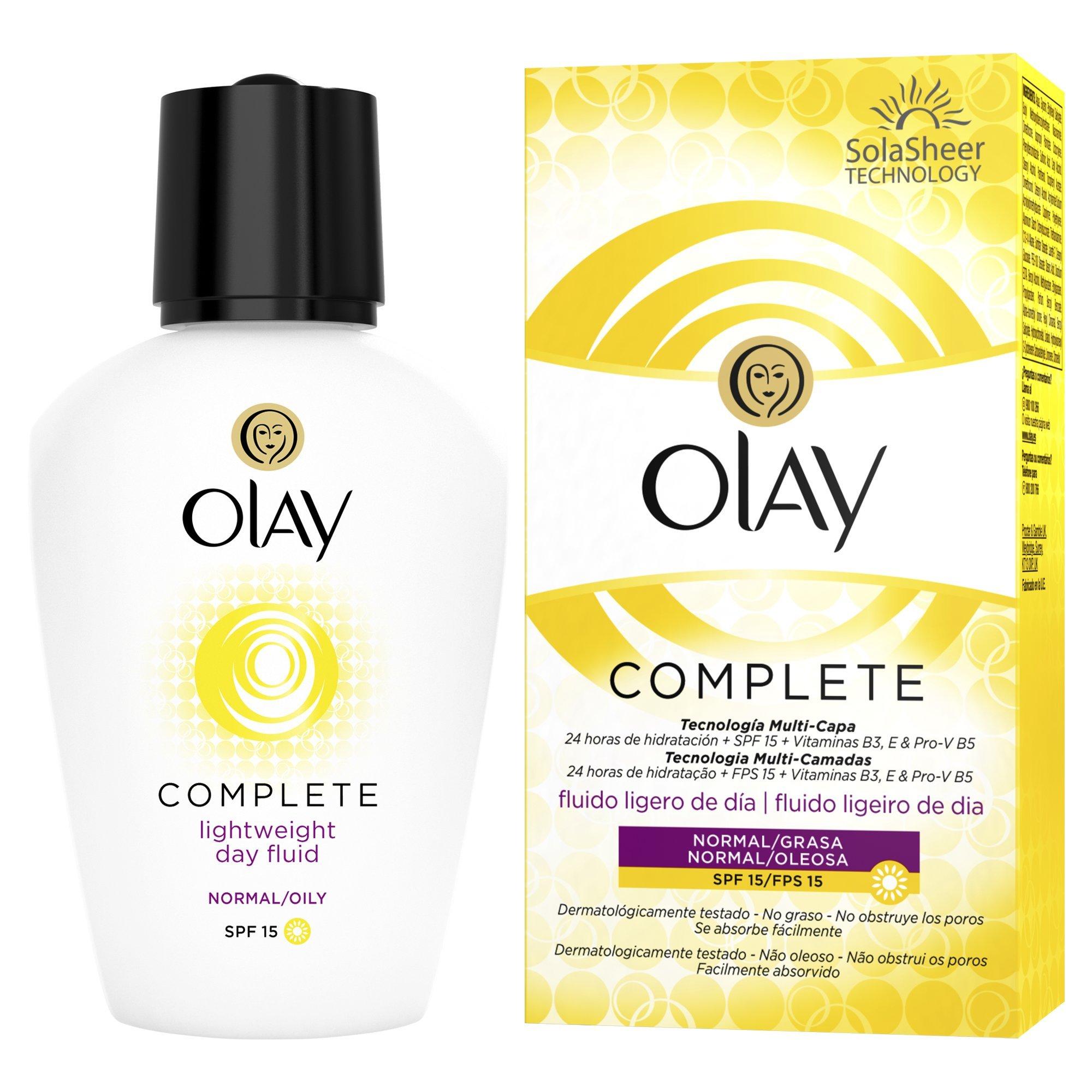 Olay Complete 3en1 Fluido hidratante ligero de día con SPF15 (pieles normales/grasas) – 100ml